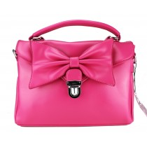 L1131 - Miss Lulu Bow Envelope Handbag Rose
